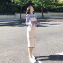 Dress Autumn of 2019 Apricot short blue long blue short apricot long S M L XL Mid length dress singleton  Long sleeves commute Half high collar High waist Solid color Socket One pace skirt pagoda sleeve Others 18-24 years old Type A Geessoew / geese Korean version More than 95% knitting other