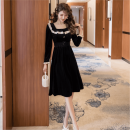 Dress Autumn 2020 black S M L XL Middle-skirt singleton  Long sleeves commute square neck High waist Solid color Socket A-line skirt routine Others 25-29 years old Type A Geessoew / geese Korean version 741 in stock More than 95% other other Other 100% Pure e-commerce (online only)