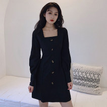 Jumpsuit / pants 96% and above shorts other High waist commute black S M L XL 2XL Spring 2021 V5 Geessoew / geese Button Pure e-commerce (online only)