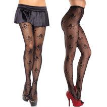 Socks / base socks / silk socks / leg socks female Over Butterfly black 1 pair Panties spring sexy other nylon Lace
