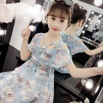 Dress Blue rice noodles blue 3943 orange 3791 yellow 3791 pink 3981 pink 3985 blue 3946 female Vicksberg Polyester 100% summer Korean version Skirt / vest other other XQZ3953W Summer 2020