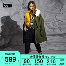 short coat Winter of 2018 XS S M Long sleeves Medium length easy routine Hood izzue 96% and above polyester fiber Polyester 100% Same model in shopping mall (sold online and offline)