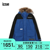 Down Jackets izzue White duck down S M L XL Youth fashion Other leisure Medium length routine 90% 150g (including) - 200g (excluding) Polyester 67.4% cotton 32.6% Winter of 2018 Same model in shopping mall (sold online and offline)