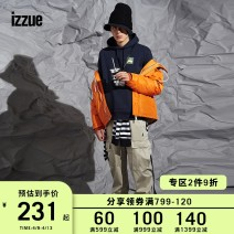 Casual pants izzue Youth fashion Black 4 2 3 5 trousers Other leisure easy IZXPTN6135W8B Four seasons youth 2018 Other 100% Sports pants Winter of 2018 Same model in shopping mall (sold online and offline)