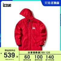 Jacket izzue Youth fashion Beige Black Red 2 3 4 5 easy Other leisure IZXJKN7212W8B Polyester 64.8% cotton 35.2% Long sleeves Wear out Hood Zipper placket Winter of 2018 Same model in shopping mall (sold online and offline)