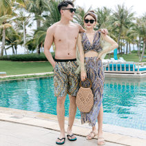 Couple swimsuit Qihai M,L,XL,XXL,XXXL,4XL Men's, women's 21409 lovers other currency