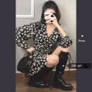 Dress Spring 2021 Average size Short skirt singleton  Long sleeves commute V-neck High waist Decor Others 18-24 years old Korean version