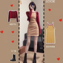 Wool knitwear Spring 2021 S,M,L,XL Suspender skirt, knitwear Long sleeves singleton  Cardigan nylon 81% (inclusive) - 90% (inclusive) have cash less than that is registered in the accounts routine commute Self cultivation other routine Solid color Single breasted Korean version 18-24 years old