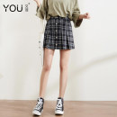 skirt Spring of 2019 XS S M L XL 2XL Black and white Short skirt High waist Pleated skirt lattice Type A 25-29 years old More than 95% other You Fei polyester fiber zipper Polyethylene terephthalate (PET) 98% polyurethane elastic fiber (spandex) 2% Pure e-commerce (online only)