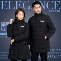 Cotton padded clothes T49 - silk like cotton black lady, k41 - silk like cotton black man, p77 - down cotton black man, u86 - down cotton black lady S,M,L,XL,XXL,XXXL,4XL,5XL Winter 2020 Other / other Medium length Long sleeves thickening zipper commute stand collar routine Self cultivation Ol style
