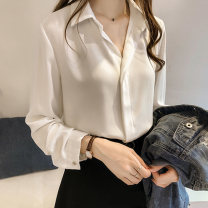 shirt Blue white black apricot S M L XL 2XL 3XL 4XL Spring 2020 other 96% and above Long sleeves commute Regular Polo collar Socket routine Solid color 18-24 years old Straight cylinder Sussa Korean version Other 100% Pure e-commerce (online only)