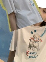 T-shirt XS,S,M,L Spring 2021 Short sleeve Crew neck easy Regular routine street cotton 71% (inclusive) - 85% (inclusive) 18-24 years old youth At-NEATO printing neutral