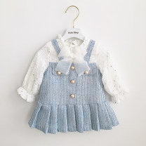 Dress female Other / other Cotton 80% other 20% spring and autumn princess Long sleeves cotton Skirt / vest 3 months, 12 months, 6 months, 9 months, 18 months, 2 years old, 3 years old, 4 years old, 5 years old Chinese Mainland
