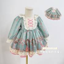 Dress goods in stock female Other / other 1, 80cm, 2, 90cm, 3, 100cm, 4, 110cm, 5, 120cm Cotton 80% other 20% cotton Fluffy skirt 3 months, 12 months, 6 months, 9 months, 18 months, 3 years old, 4 years old, 5 years old, 6 years old