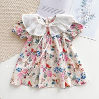 Dress Stock, order female Other / other 80cm,90cm,100cm,110cm,120cm Cotton 80% other 20% summer Short sleeve cotton A-line skirt 3 months, 12 months, 6 months, 9 months, 18 months, 2 years old, 3 years old, 4 years old, 5 years old, 6 years old