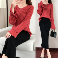 skirt Winter 2017 S,M,L,XL Black single skirt longuette commute Natural waist skirt Solid color Type H 18-24 years old 1710-120 51% (inclusive) - 70% (inclusive) knitting Korean version