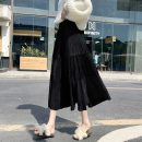 skirt Autumn 2020 S M L Black, dark green, coffee Mid length dress commute High waist Cake skirt Solid color Type A 18-24 years old More than 95% Zhifu other Button Korean version Other 100% Pure e-commerce (online only)