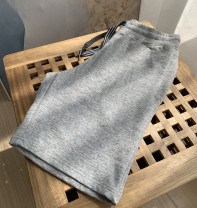 Casual pants RUNESSANSU Fashion City High grade grey 3,4,5,6 routine Pant Other leisure Straight cylinder tide 2021 Straight cylinder Cotton 100% Solid color cotton cotton More than 95%