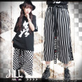 Casual pants White black Average size Cropped Trousers Wide leg pants low-waisted original routine cotton cotton