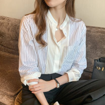 shirt Black stripe S M XL 2XL L Autumn 2020 other 96% and above Long sleeves commute Medium length Polo collar Single row multi button shirt sleeve other 25-29 years old Self cultivation Fashang dream Retro Button Other 100% Pure e-commerce (online only)
