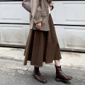skirt Winter 2020 S M L XL Black Brown Mid length dress commute High waist A-line skirt Solid color Type A 25-29 years old More than 95% other Fashang dream other Korean version Other 100% Pure e-commerce (online only)