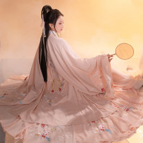National costume / stage costume Winter 2020 S (in stock), m (in stock), l (in stock), s (pre-sale, delivery on May 5), m (pre-sale, delivery on May 5), l (pre-sale, delivery on May 5), (Zhuyan Hanfu focuses on nine meter pendulum) 18-25 years old polyester fiber