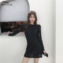 Fashion suit Autumn of 2019 Average size Hyt sweater suit skirt 18-25 years old Lieoyuan / Miao yuan Hanyi rabbit sweater suit skirt 71% (inclusive) - 80% (inclusive) polyester fiber Polyethylene terephthalate (polyester) 90% cotton 10% Pure e-commerce (online only)