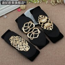 Belt / belt / chain Metal female Waistband Versatile Single loop Youth a hook Geometric pattern soft surface 6cm alloy carving Duffy ollie EL34 Spring and summer 2011