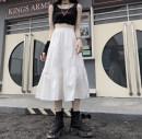skirt Summer 2020 Average size White, black High waist Type A More than 95% cotton
