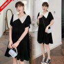 Dress VSETAMELLE M,L,XL,XXL leisure time Short sleeve Medium length summer Lapel other polyester fiber
