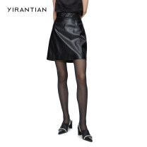 skirt Spring 2021 XS S M L black Short skirt Retro High waist A-line skirt Solid color Type A 25-29 years old YRT21SS-S02 More than 95% YIRANTIAN other Other 100% Same model in shopping mall (sold online and offline)