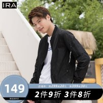 Jacket IRA Youth fashion Black-10 M/170 L/175 XL/180 XXL/185 routine Self cultivation Other leisure autumn Polyester 100% Long sleeves Wear out Baseball collar Youthful vigor teenagers routine Zipper placket Rib hem Closing sleeve Autumn of 2019 Rib bottom pendulum Thread embedding and bag digging