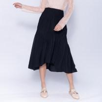 skirt Autumn 2020 6 8 10 12 black Mid length dress High waist XUZOEO50003 Cache (clothing)
