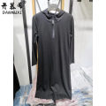 leather and fur Spring 2021 Damushi grey M L XL 2XL Medium length Long sleeves Hood routine 25-29 years old