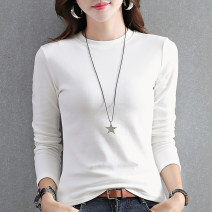 T-shirt White black deep fog blue grey apricot skin pink brown S M L XL 2XL 3XL Autumn 2020 Long sleeves Half high collar Self cultivation Regular routine commute cotton 86% (inclusive) -95% (inclusive) 18-24 years old Korean version originality Ingenious in meaning BQ205