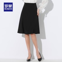 skirt Summer 2021 S M L XL XXL black Middle-skirt grace High waist A-line skirt Solid color Type A 25-29 years old *9O078216 More than 95% Romon / Romon polyester fiber Polyethylene terephthalate (polyester) 100.00% Same model in shopping mall (sold online and offline)
