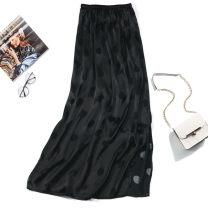 skirt Summer of 2018 Average size longuette Versatile Natural waist Dot Type H More than 95% Nine silkworms silk