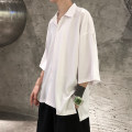shirt Youth fashion Jetner S M L XL 2XL C01 / white C01 / Black C01 / yellow C01 / blue gray Thin money Pointed collar (regular) elbow sleeve easy Other leisure summer JTN-5.16-C01 teenagers Polyester 100% Basic public 2020 Solid color Summer 2020 No iron treatment Asymmetry