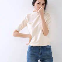 T-shirt Khaki blue M Autumn 2021 Short sleeve High collar easy Regular routine commute Viscose 31% (inclusive) - 50% (inclusive) 40-49 years old Simplicity originality Tiiwgjiy / listen to yourself TJ-AL9605321354jn32135182 Pure e-commerce (online only)