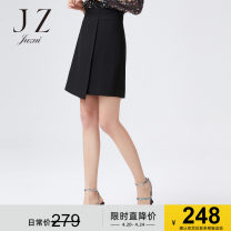 skirt Autumn of 2019 XS S M L XL 2XL 3XL 4XL Black and red Short skirt High waist A-line skirt Solid color Type A 30-34 years old JWZQ20201 51% (inclusive) - 70% (inclusive) Juzui / Jiuzi Cellulose acetate Acetate 70% polyester 30%