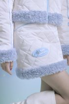 skirt Winter 2020 S,M,L Milky white spot Short skirt commute Natural waist A-line skirt Solid color More than 95% other polyester fiber Three dimensional decoration, zipper, fur collar, stitching, sticking cloth Retro