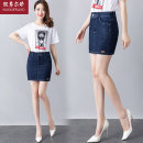 skirt Summer of 2018 26/S 27/M 28/L 29/XL 30/2XL 31/3XL 32/4XL 33/5XL 34/XL blue Short skirt Versatile High waist A-line skirt Solid color Type A 30-34 years old H-1807 More than 95% brocade Nu Xiu Er Jiao cotton Three dimensional decorative button zipper Cotton 96% polyester 4%