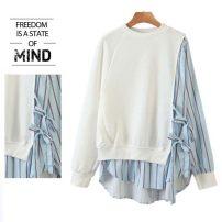 Sweater / sweater Autumn 2020 white Average size Long sleeves Medium length Socket easy street Europe and America