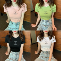 T-shirt White, green, black, pink Average size Summer 2021 Short sleeve Crew neck Self cultivation have cash less than that is registered in the accounts routine commute other 71% (inclusive) - 85% (inclusive) 18-24 years old Korean version other letter Other / other