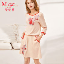 Nightdress ManiForm  110 skin color 160 165 170 20310525A Spring of 2019 Cotton 100% Same model in shopping mall (sold online and offline)