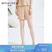 Casual pants Camel 36 38 40 42 44 Summer 2020 shorts Straight pants Natural waist routine 30-34 years old 6C50220900 Psalter / poem Polyester 100% Pure e-commerce (online only)