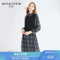 Dress Spring 2020 black 36 38 40 42 44 Mid length dress singleton  Long sleeves commute other other other routine 30-34 years old Type X Psalter / poem Simplicity 6C60106203 30% and below polyester fiber Viscose (viscose) 81.8% polyester 18.2% Same model in shopping mall (sold online and offline)