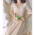 Nightdress Night's Lure Cream 155(S) 160(M) 165(L) 170(XL) Spring 2020 Cotton 100%