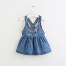 Dress Denim blue female Other / other 90cm (clothing label 5T) Cotton 100% spring and autumn leisure time Skirt / vest Cartoon animation cotton A-line skirt other 2 years old, 3 years old, 4 years old, 5 years old, 6 years old