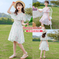 Dress female Other / other Other 100% summer lady Short sleeve Broken flower other A-line skirt 925 12, 7, 8, 13, 14, 9, 10, 5, 6, 11 Chinese Mainland Pink, green 120cm,130cm,140cm,150cm,160cm,170cm